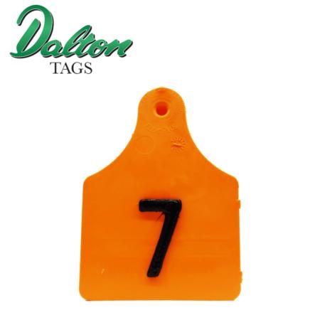 Orange 3D Pig Tag
